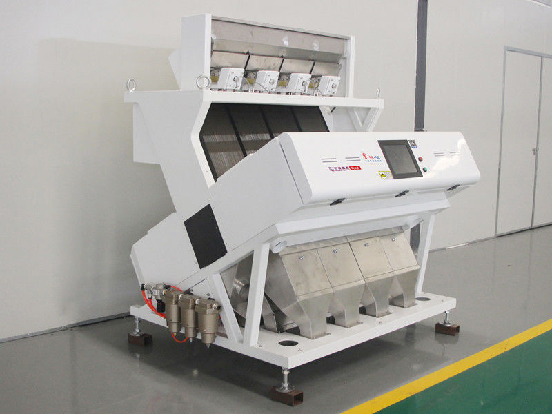 High Capacity 4 Chutes Nuts Color Sorter Machine With 4096 PIXEL CCD Sensor