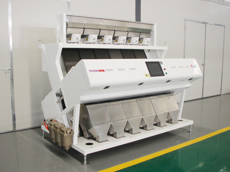 Automatic Belt Type Nuts Color Sorter Six Channels For Cashew Nuts Anti Jamming