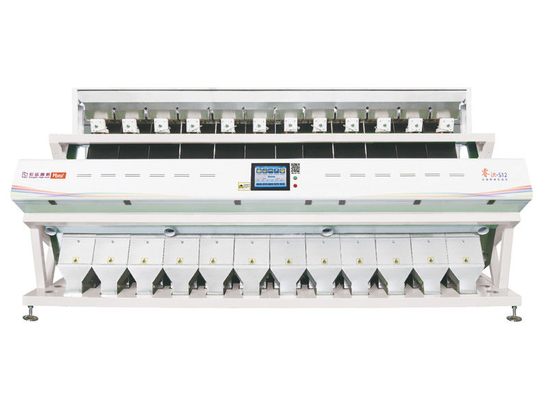 Intelligent Control Corn Sorting Machine 360 Degree Cyclone Suction White Color